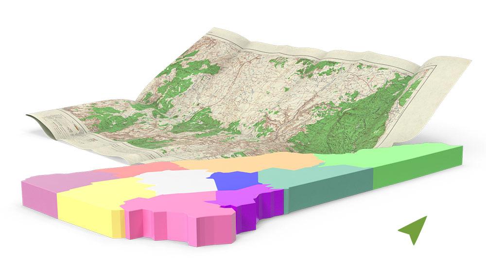Mapa parcela na Eko-FIS Vlašiću